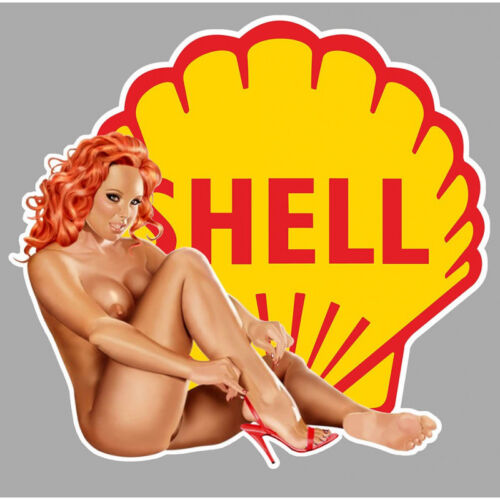 SHELL PIN UP  right Sticker droite