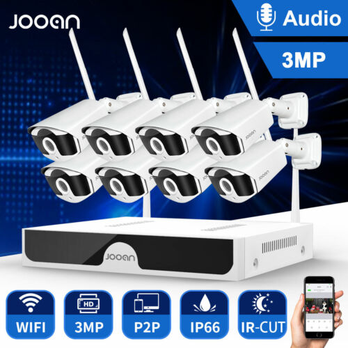 Full HD 3MP Wireless Security Camera System IP WIFI CCTV Outdoor 8CH H.265 8cam