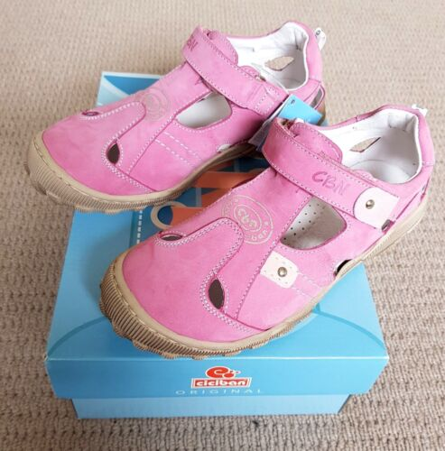 Ciciban Girls Leather Sandals EU Size 34 NEW WITH TAGS BOX Pink Summer Shoes