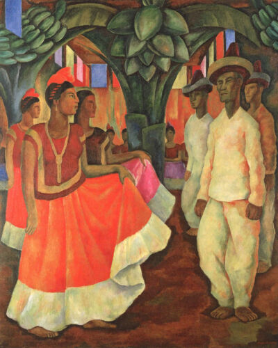 Dance in Tehuantepec   by Diego Rivera Giclee Canvas Print Repro