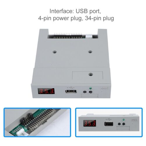 "3.5"" 1.2/1.44MB Floppy Disk Drive USB SSD Emulator Simulation For Music Keyboard"