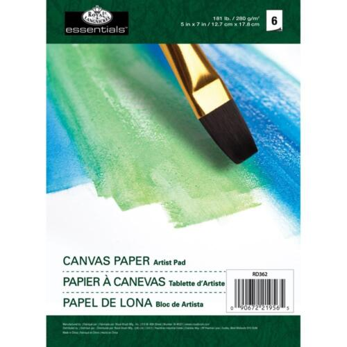 "Royal Langnickel Essentials Canvas Paper Artist Pad 5"" x 7"" 6 Sheets REDUCED"