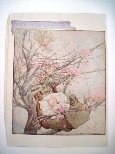 """Precious Vintage Book Plate Titled """"Hush-A-Bye-Baby"""" by """"Anne Anderson"""" *"""