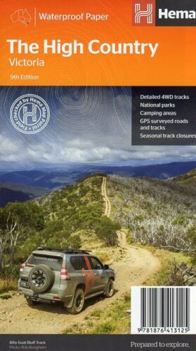 The High Country 4WD Map - Victoria - Waterproof Hema Maps