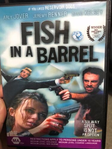 Fish In A Barrel region 4 DVD (2001 Jeremy Renner comedy drama movie) RARE