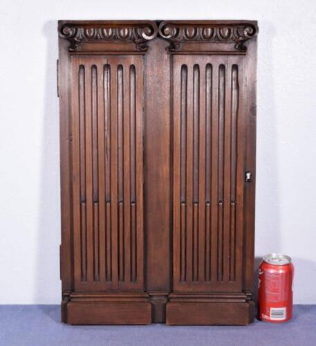 *French Antique Panel/Door with Greek Ionic Columns in Walnut Wood Salvage 1