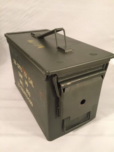 MILITARY 50 Cal Ammo Can M2A1 Green Ammunition Tin BoxBoxes & Chests - 165616