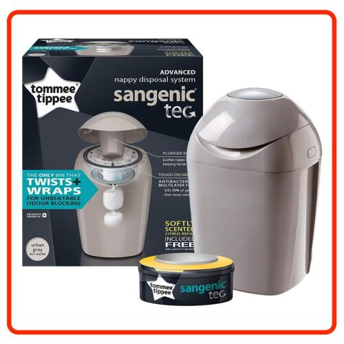 Tommee Tippee Sangenic Hygiene Nappy Closer to Nature TEC BIN Refill Cassette <br/> Urban Grey + Post in 24hr+Top Rated Seller+eBay Premium