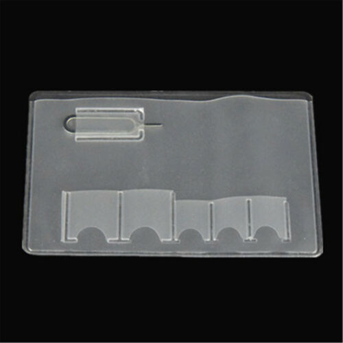 SIM Card Holder Storage Case For 5 Micro Sizes SIM Cards And Phone Eject Pin