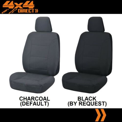 WATERPROOF GREY CAR FRONT SEAT COVERS FOR FORD FALCON STRONG CANVAS ALL OVER