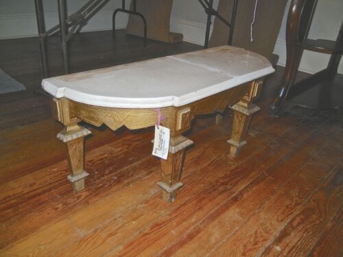 Antique  Gilt  Wood Pier Table  Stand Eastlake Style  Bevel  MarbleTop 1880's