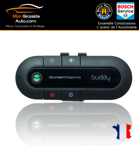 Kits Hands Hands-Free Bluetooth Car SuperTooth Buddy Black + Car Charger