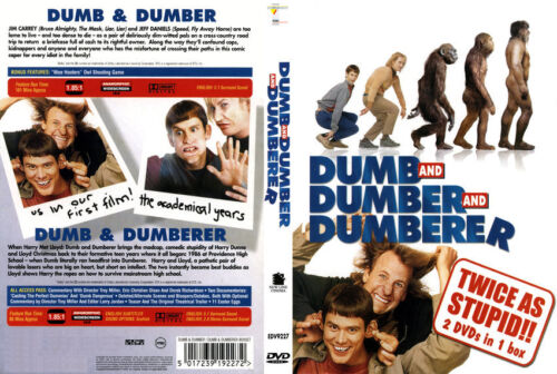DUMB and DUMBER and DUMBERER Jim Carrey NEW 2 DVD FREE POST mmoetwil@hotmail.com