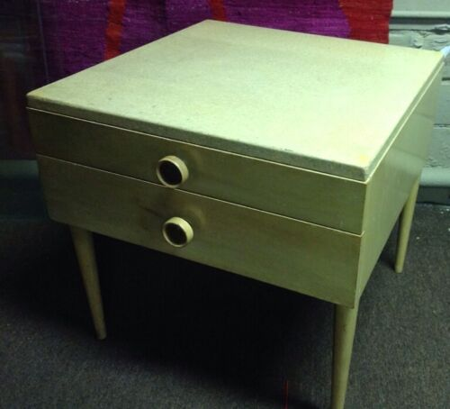 Vintage Art Deco Paul Frankl Mid Century Modern Cork Top End Table