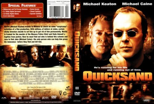 QUICKSAND Michael Keaton Michael Caine - NEW DVD FREE POST mmoetwil@hotmail.com