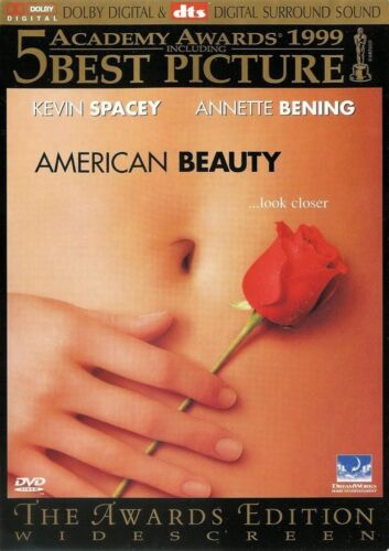 AMERICAN BEAUTY Kevin Spacey A.Bening - NEW DVD FREE POST mmoetwil@hotmail.com