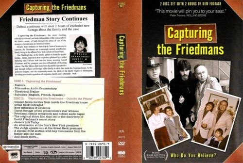 CAPTURING THE FRIEDMANS - NEW 2 DVD - FREE POST - mmoetwil@hotmail.com