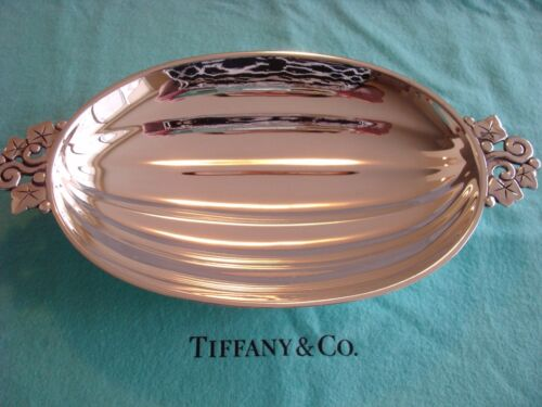 TIFFANY sterling silver ~ LOBED DISH BOWL ACORN SQUASH HANDLES ~ OUTSTANDING!!