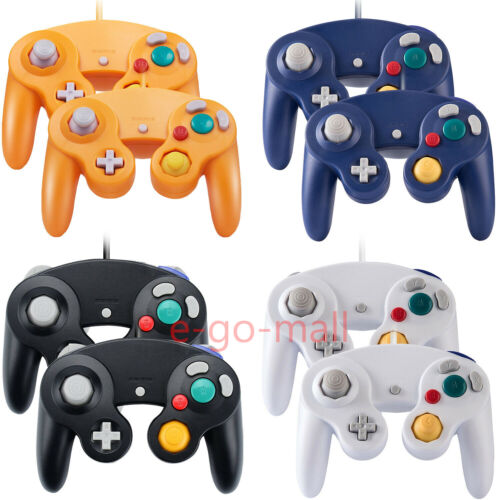 2Pack Wired NGC Controller Gamepad for Nintendo GameCube & Wii U Console Switch <br/> For NGC / Wii U PC/Smash Bros/USA Stock / Shock control