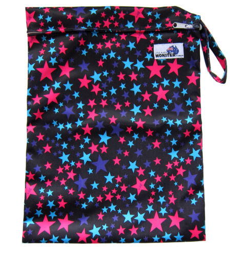 NEW! Stars Large Waterproof Dry Wet Bag baby cloth nappies, wet swimwear towels