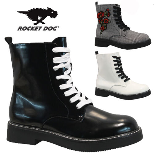 ROCKET DOG LADIES DOC PUNK GOTH ARMY WINTER WARM WALKING HIKING ANKLE BOOTS SIZE <br/> SPECIAL OFFER***ONE WEEK ONLY***RRP £59.95