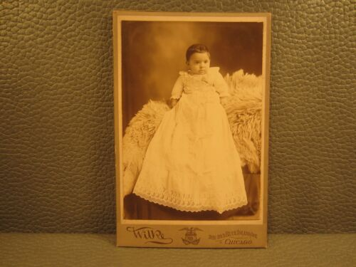 Victorian Antique Cabinet Card Photo of a Young Child, Baby, Kid, Infant, Girl
