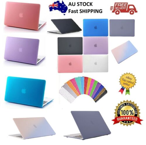 """Macbook Rubberized Hard Case Shell+Keyboard Cover for Pro 13/15"""" Air 11/12"""" Inch"""