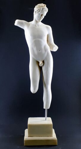 Nude Male Boy Young Body Torso Greek Cast Marble Large Sculpture Statue 25.2in