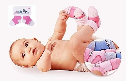 Sock Ons 6-12 Months   Baby Sock Covers   Stop Babies Socks From Falling Off