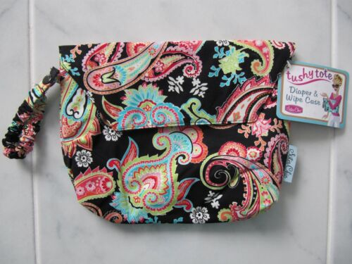 SISTER CHIC TUSHY TOTE NAPPY DIAPER WIPE BAG PATTY PAISLEY BRAND NEW WITH TAGS