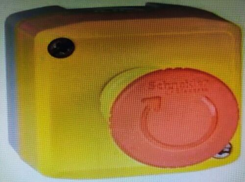 Schneider Yellow Control Station Red Mushroom Pushbutton 1no+1nc Turn To Release