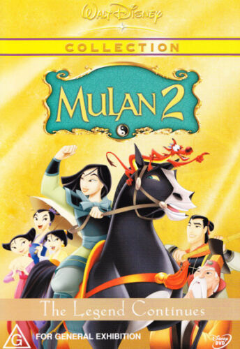 MULAN 2: THE LEGEND CONTINUES - DISNEY COLLECTION DVD - BRAND NEW & SEALED (R4)