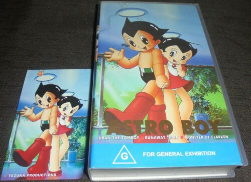 ASTRO BOY VOLUME 4 RARE VHS VIDEO TAPE WITH COLLECTABLE STICKER 3 EPISODES