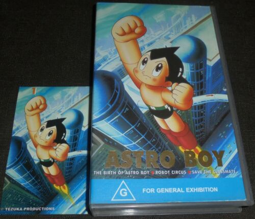ASTRO BOY VOLUME 1 RARE VHS VIDEO TAPE WITH COLLECTABLE STICKER 3 EPISODES