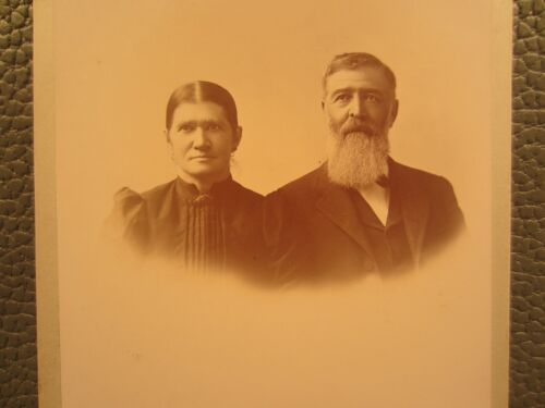 Victorian Antique Cabinet Card Photo of an Older Couple
