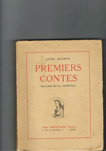 French - Vintage French book PREMIERS CONTES by Andre Maurois - 1935