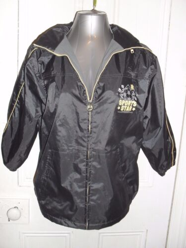 Pumpkin Patch boys size 11 PVC coated poly lined waterproof sports jacket in VGC