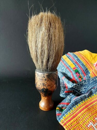 Old Chinese Calligraphy Brush with Wooden Handle …beautiful collection and displ