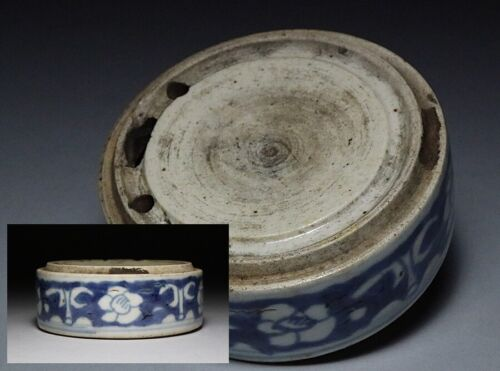 Chinese Qing Dynasty Old Ink Stone / Blue and White Porcelain