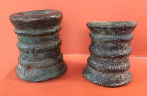 GENUINE LOT OF TWO SIGNAL CANNON BOMBARDS SPANISH ANTIQUE 16thOriginal Period Items - 1552