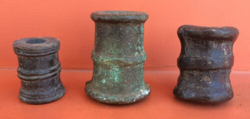 GENUINE LOT OF THREE SIGNAL CANNON BOMBARDS SPANISH ANTIQUE 16thOriginal Period Items - 1552