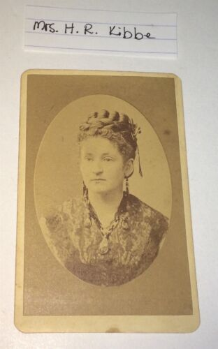Rare Antique Victorian American Mrs. Henry Kibbe! Famous Family CT/MA CDV Photo!