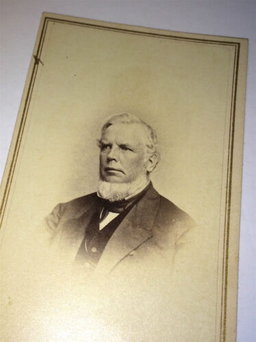 Antique Victorian American Wealthy Aristocrat ID'd David Gallup! CT CDV Photo!