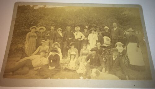 Antique Victorian American ID'd Marshall Family, Pet Dog! Animal! Cabinet Photo!