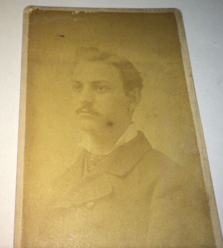 Rare Antique Son of Famous American NY Brewer & Inventor Anthony Pfund CDV Photo