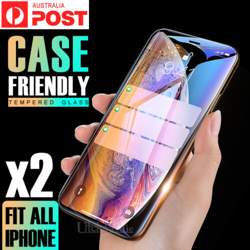2X Tempered Glass Screen Protector For Apple iPhone 6s 6 7 8 PLUS X XR XS Max 5