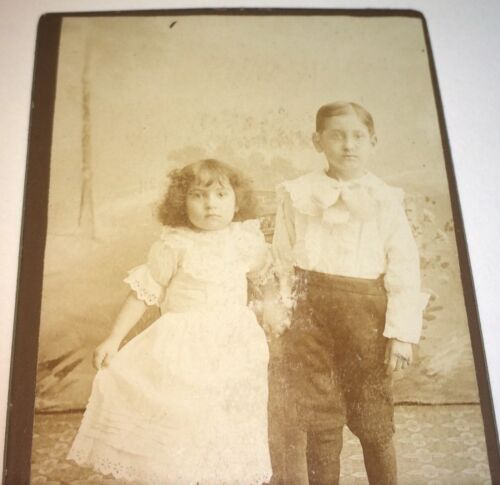 Rare Antique Victorian American Adorable Jewish Immigrant Children! CDV Photo!