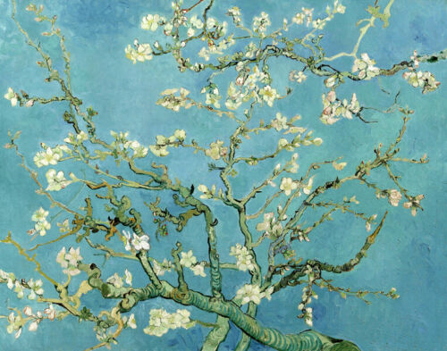 Flowering almond tree by Vincent van Gogh Oil painting printed on canvas L2402