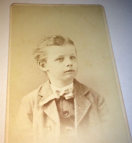 Antique ID'd Victorian American Young Boy! Atwood! Burlington, Vermont CDV Photo