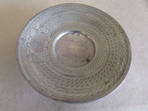 AUSTRIAN SILVER ETCHED DIANKOPF HERMAN SAOEDFELD COMPORT DISH PLATE STAMPED